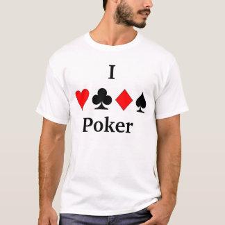 Camiseta Eu amo o póquer