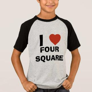 Camiseta Eu amo o quadrado quatro