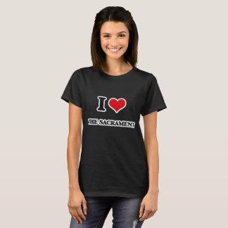 Camiseta Eu amo o sacramento