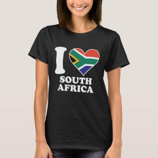 Camiseta Eu amo o sul de África do Sul - coração africano