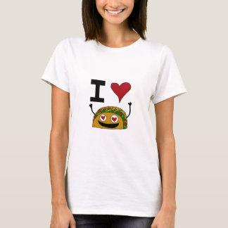 Camiseta Eu amo o T das mulheres do Taco