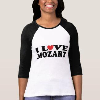 Camiseta Eu amo o T do jérsei das mulheres de Mozart