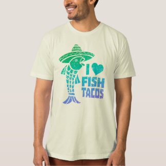 Camiseta Eu amo o T do Tacos de peixes