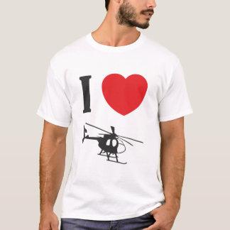 Camiseta Eu amo o T dos helicópteros