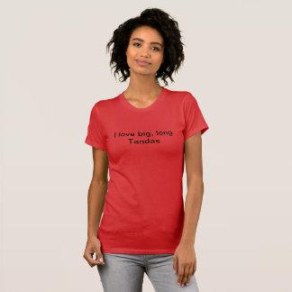 Camiseta Eu amo o T longo grande dos tandas