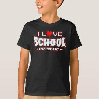 Camiseta Eu amo o T sarcástico engraçado do professor