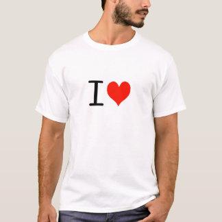 Camiseta Eu amo… o t-shirt