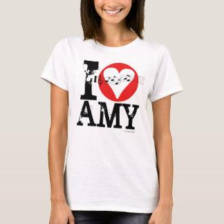 Camiseta Eu amo o t-shirt 1 do Amy