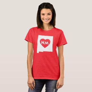 Camiseta Eu amo o t-shirt básico das mulheres do estado de