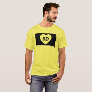 Camiseta Eu amo o t-shirt básico dos homens do estado de