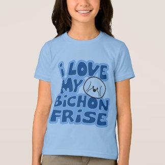 Camiseta Eu amo o t-shirt da campainha da minha menina de