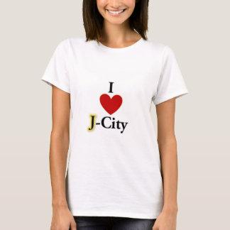 Camiseta EU AMO o t-shirt da CIDADE de J (jerusalem)