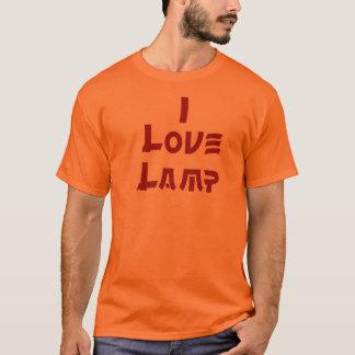 Camiseta Eu amo o t-shirt da lâmpada