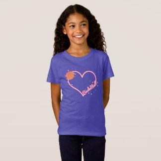 Camiseta Eu amo o t-shirt da menina do basquetebol