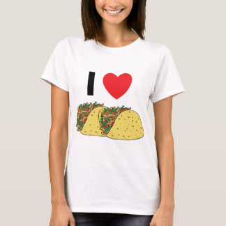 Camiseta Eu amo o t-shirt da mulher do Tacos