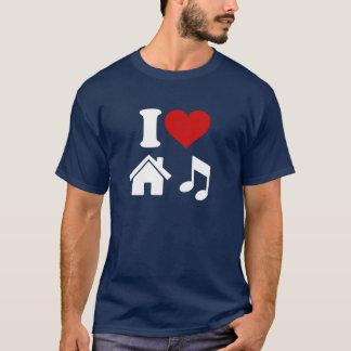 Camiseta Eu amo o t-shirt da música da casa