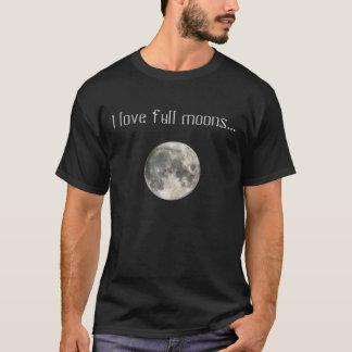 Camiseta Eu amo o t-shirt das Luas cheias