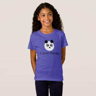 Camiseta Eu amo o t-shirt das pandas