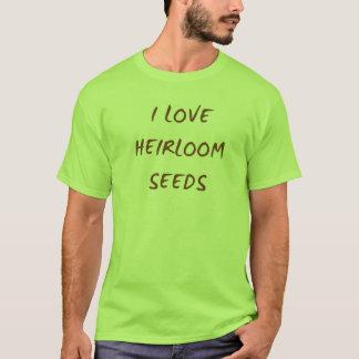Camiseta Eu amo o t-shirt das sementes da herança