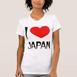 Camiseta Eu amo o t-shirt das senhoras de Japão