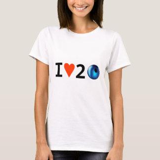 Camiseta EU AMO o t-shirt de 2 GRÂNULOS