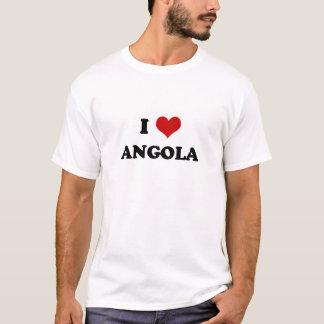 Camiseta Eu amo o t-shirt de Angola