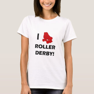 Camiseta Eu amo o t-shirt de Derby do rolo