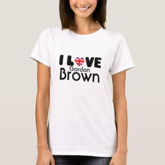 Camiseta Eu amo o t-shirt de Gordon Brown |