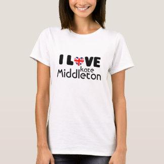Camiseta Eu amo o t-shirt de Kate Middleton |