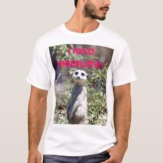 Camiseta Eu amo o t-shirt de Meerkats