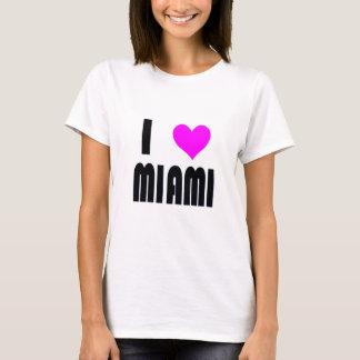 Camiseta Eu amo o t-shirt de Miami Florida EUA