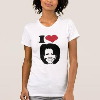 Camiseta Eu amo o t-shirt de Michelle Obama