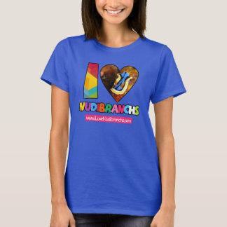 Camiseta Eu amo o t-shirt de Nudibranchs em cores