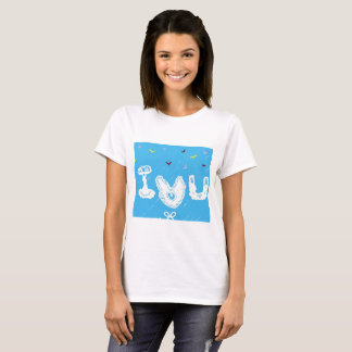 Camiseta Eu amo o t-shirt de U