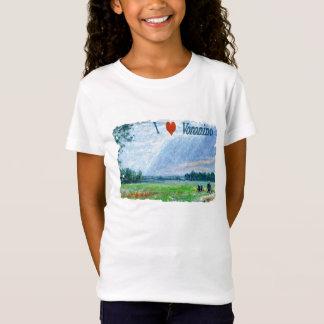 Camiseta Eu amo o t-shirt de Voronino (uma vila em Rússia)