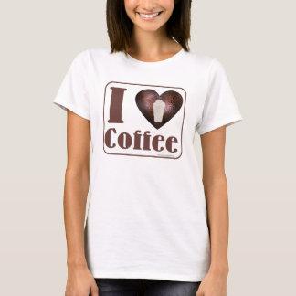 Camiseta Eu amo o t-shirt do café
