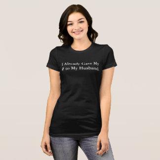 Camiseta Eu amo o t-shirt do casamento