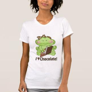 Camiseta Eu amo o t-shirt do chocolate