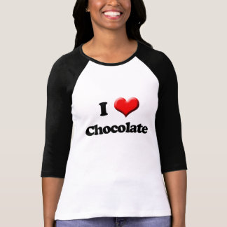 Camiseta Eu amo o t-shirt do chocolate, dia dos namorados