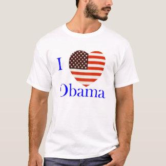 Camiseta Eu amo o t-shirt do costume de Obama