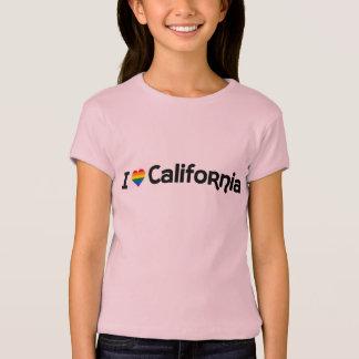 Camiseta Eu amo o t-shirt do estado de LGBT Califórnia