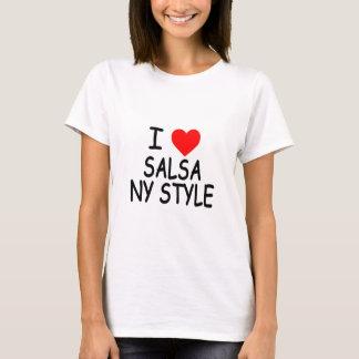 Camiseta Eu amo o t-shirt do estilo da salsa NY