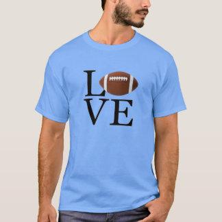 Camiseta Eu amo o t-shirt do futebol