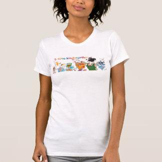 Camiseta Eu amo o t-shirt do jardim de infância