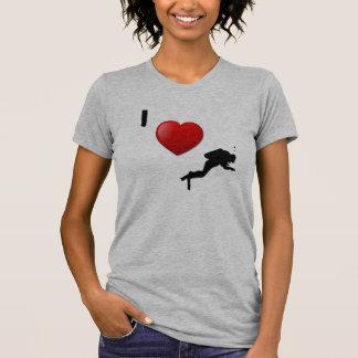 Camiseta EU AMO O T-SHIRT do MERGULHO AUTÓNOMO para