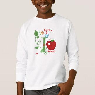 Camiseta Eu amo o t-shirt do miúdo da escola