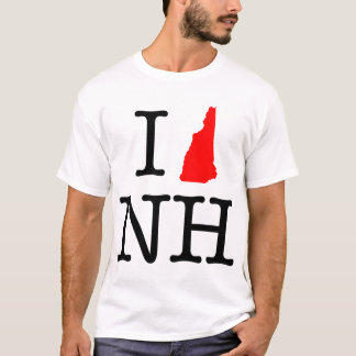 Camiseta Eu amo o t-shirt do NH New Hampshire