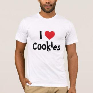 Camiseta Eu amo o t-shirt dos biscoitos