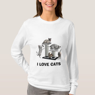 Camiseta EU AMO o t-shirt dos GATOS