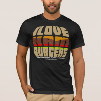 Camiseta Eu amo o t-shirt dos Hamburger